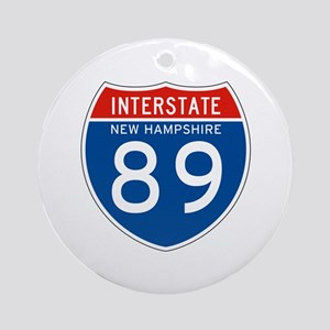 Interstate 89 - NH Ornament (Round)