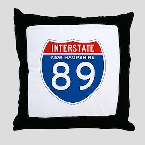 Interstate 89 - NH Throw Pillow