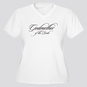 Godmother of the Bride Black Fancy Script Plus Siz