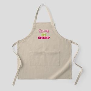 I Love Sheep Light Apron