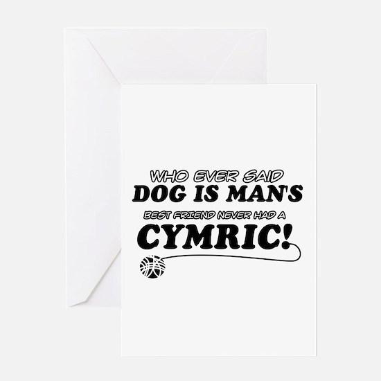 Cymric Cat designs Greeting Card
