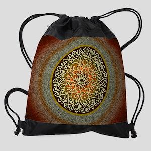 Autumn Celtic Art Burst Drawstring Bag