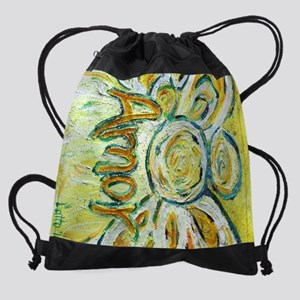 Amor Word Angel Art Drawstring Bag