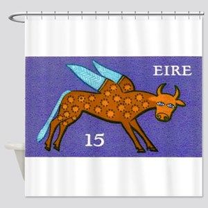 1975 Ireland Winged Ox Postage Stamp Purple Shower