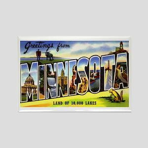 Minnesota Greetings Rectangle Magnet