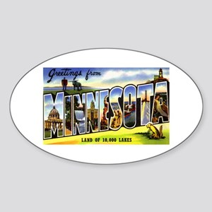 Minnesota Greetings Oval Sticker