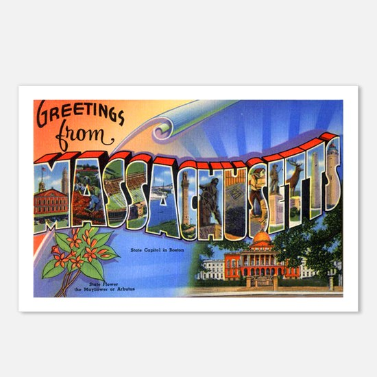 Massachusetts Greetings Postcards (Package of 8)