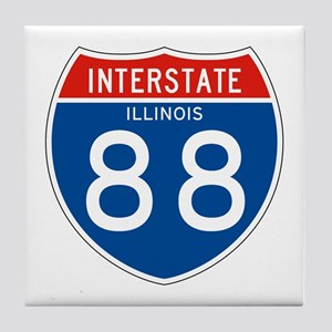 Interstate 88 - IL Tile Coaster