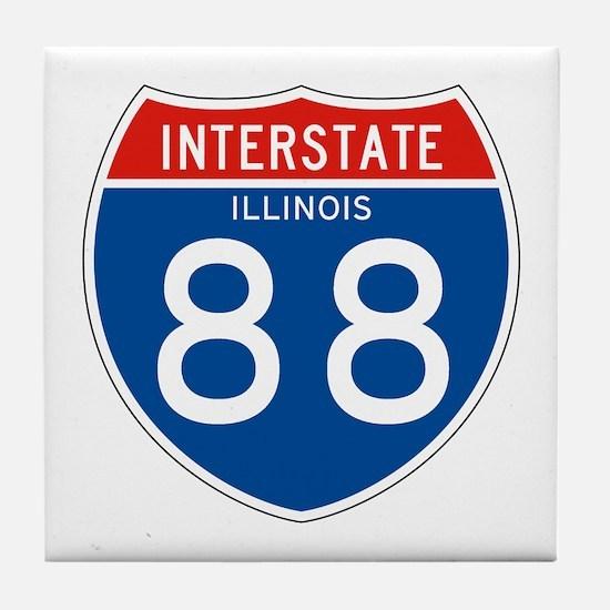Interstate 88 - IL Tile Coaster