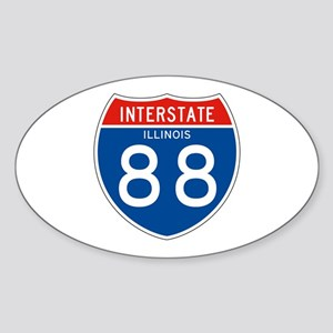 Interstate 88 - IL Oval Sticker