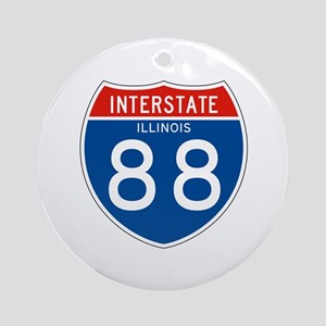 Interstate 88 - IL Ornament (Round)