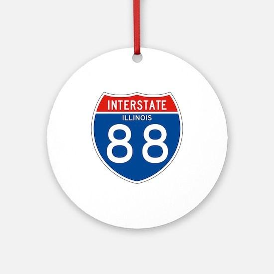 Interstate 88 - IL Ornament (Round)