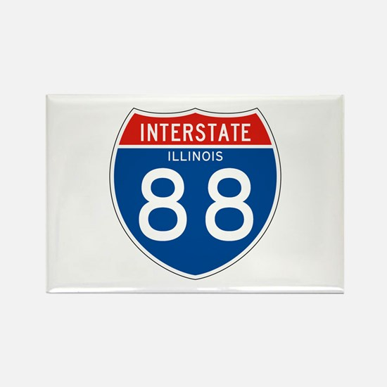 Interstate 88 - IL Rectangle Magnet