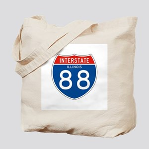 Interstate 88 - IL Tote Bag