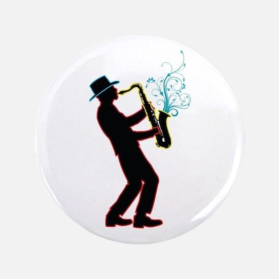 "Saxophone Player 3.5"" Button"