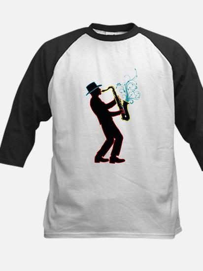 Saxophone Player Kids Baseball Jersey