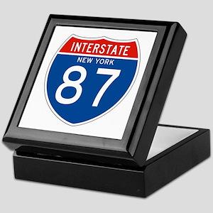 Interstate 87 - NY Keepsake Box