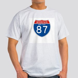 Interstate 87 - NY Ash Grey T-Shirt