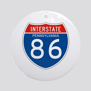 Interstate 86 - PA Ornament (Round)