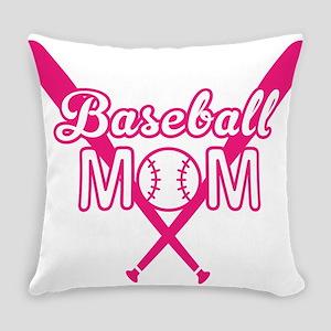 Cute Pink baseball Mom Everyday Pillow