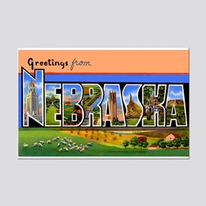Nebraska Greetings Mini Poster Print