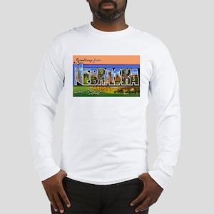 Nebraska Greetings (Front) Long Sleeve T-Shirt