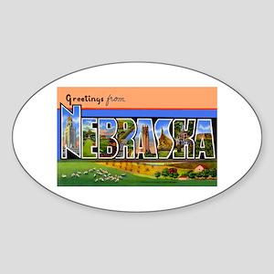 Nebraska Greetings Oval Sticker
