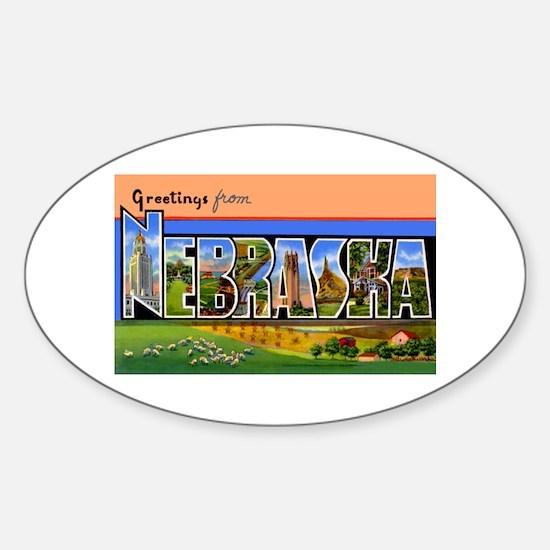 Nebraska Greetings Oval Decal