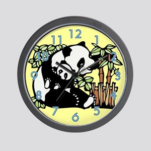 Panda and Panda Cub Wall Clock