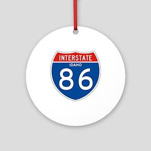 Interstate 86 - ID Ornament (Round)