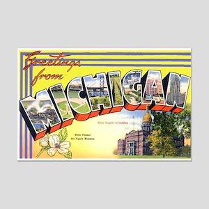 Michigan Greetings Mini Poster Print