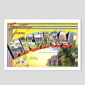 Michigan Greetings Postcards (Package of 8)