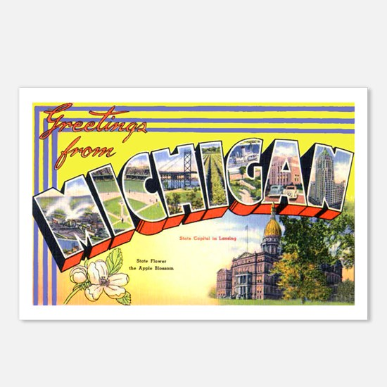 Michigan Greetings Postcards (Package of 8)