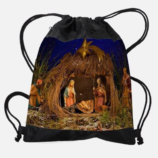 Nativity scene Drawstring Bag