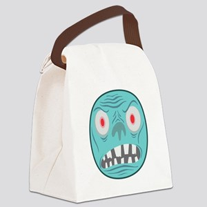 BLUE MONSTER HEAD GRAPHIC T SHIRT Canvas Lunch Bag