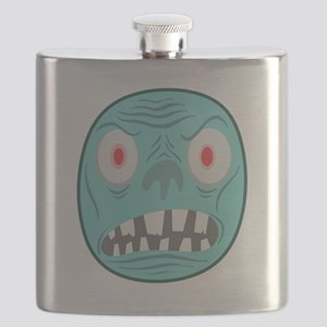 BLUE MONSTER HEAD GRAPHIC T SHIRT Flask