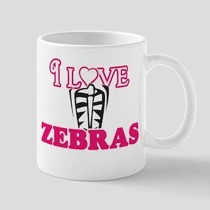 I Love Zebras Mugs