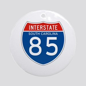 Interstate 85 - SC Ornament (Round)