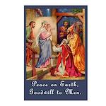 Peace on Earth Christmas Postcards (Pk of 8)