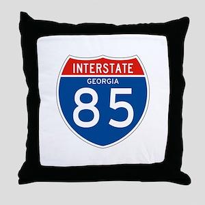 Interstate 85 - GA Throw Pillow