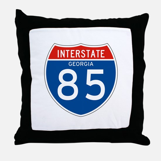 Interstate 85 - GA Throw Pillow