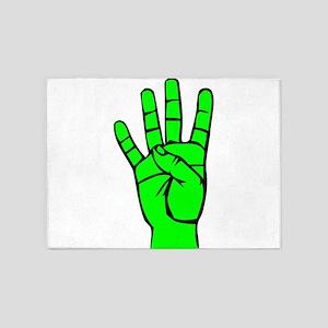 Sign Language 4 e1 5'x7'Area Rug
