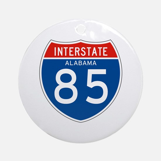 Interstate 85 - AL Ornament (Round)