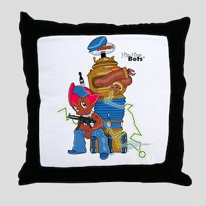 Hip-Hop Bots Stuff Throw Pillow