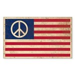 PEACE - Retro AMERICAN FLAG Sticker