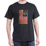 USA Peace Flag - Retro Dark T-Shirt