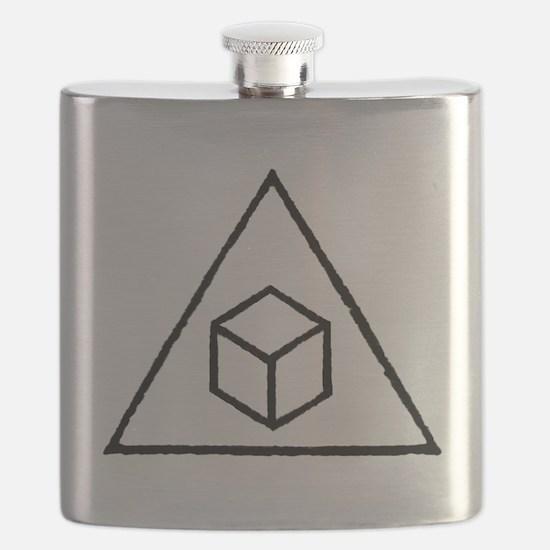 Delta Cubes Flask