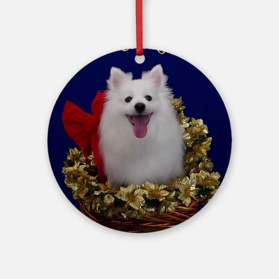American Eskimo Dog Ornament (Round)