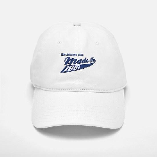 Made in 1987 Baseball Baseball Cap