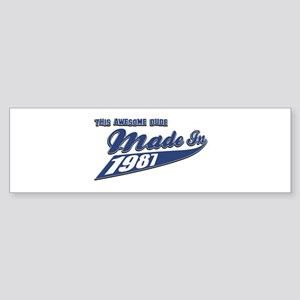 Made in 1987 Sticker (Bumper)